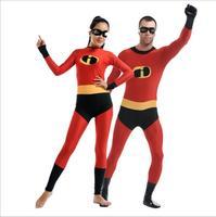The incredibles Costume Men Woman Kid Cosplay Costumes Spandex Lycra Zentai Unitard Full Body Zipper Back Halloween Bodysuit