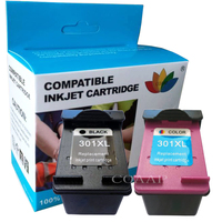 2pcs Compatible hp 301 Refilled Ink Cartridge for HP Deskjet 1000 1010 1050 1050A 1510 1512 1514 2050 2050A 2054A 2510 2540 2542
