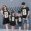 Семьи соответствующие наряды семья одежда мать и дочь платье одежда отец и сын футболки семьи соответствующие одежда CP19
