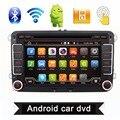 2 Din 7 Pulgadas Quad Core Android 4.4 Jugador Del Coche DVD GPS Navi PC para VW GOLF 5 6 POLO PASSAT CC JETTA TIGUAN Skoda/Asiento 3G USB BT
