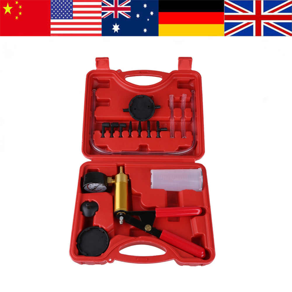 1 Set Hand Vacuum Pump Brake Bleeder Vacuum Tester Held Vacuum Pistol Pump Vacuum Pump Bleed Kit New Arrival