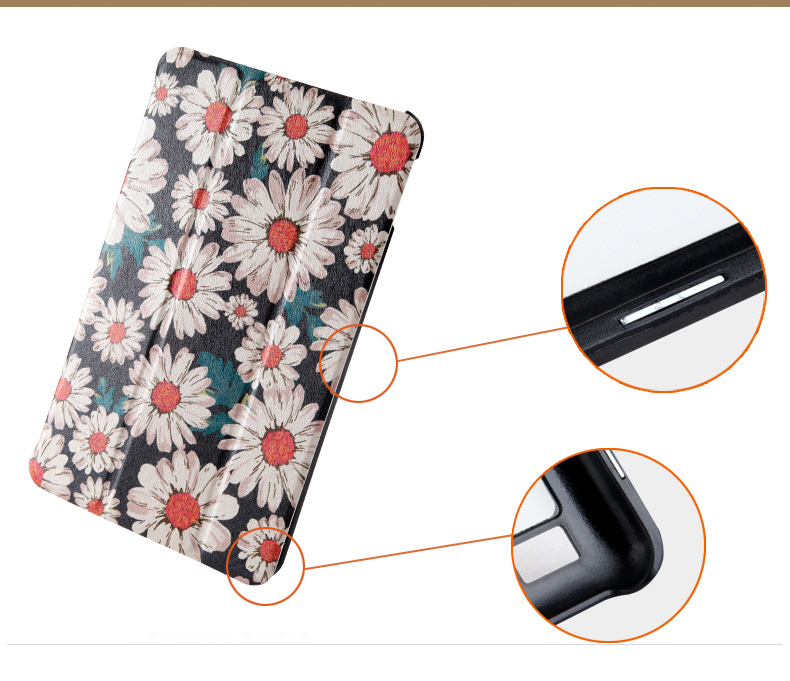 Printed cover case Stand cover for Amazon kindle Fire 7 (new 2015 version) 7 tablet smart cover for kindle 7 tablet skin+stylus