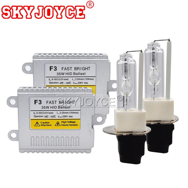 SKYJOYCE 12V 35W AC HID Xenon Conversion Kit Slim Ballast Ceramics HID Xenon bulb H3C 3000K 4300K 6000K 8000K Car Headlight Kit (10)