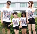 Free Shipping New Family outfits Mother girl Father Boy set Leopard striped t shirt+ pants sets