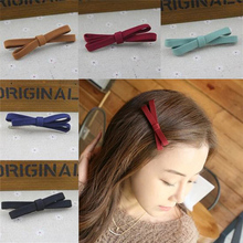 Hot 1pc 5Styles Hair Accessories Cute female Hairpin Barrette Headband Accessory Benn Clip Bowknot