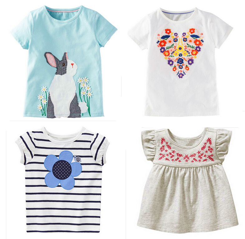 117029144b7d SALE brand 2018 100% cotton kid clothes child blouse clothing for baby  girls tshirts top
