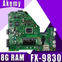 For ASUS X550I X550IK X550IU Notebook laptop motherboard mainboard 4GB Graphics card 8G RAM FX 9830 cpu