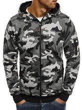 Casual Streetwear Camo Hoodie Camouflage Print Men Hoodie Zipper Military Sportswear Sweatshirts Male Cloth Sudadera Hombre цена