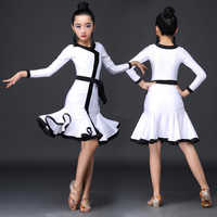 Latin Dance Dress Girl Professional Competition Dancing Dresses Children Kid Salsa Cha Samba Clothes Practice Show Wear DN5037
