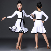 Latin Dance Dress Girl Multi Color Professional Ballroom Dance Competition Dresses Children Kid Salsa Cha Samba Costume DN5037