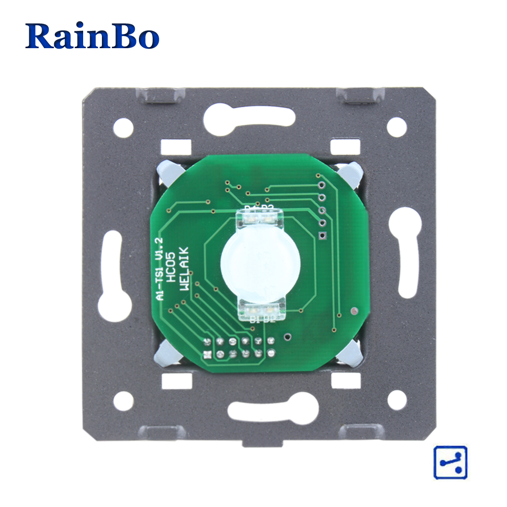 RainBo Touch-Switch Module-DIY Parts-Manufacturer Wall-Switch EU 1gang-2way Touch-Screen Wall-Light-Switches 110~250V-A912