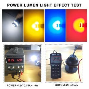 Image 5 - OXILAM 10Pcs T10 LED Canbus W5W LED Bulb Auto Lamp 3014 24SMD Car Interior Light 194 168 Lights Bulb White Red Yellow No Error