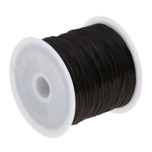 2 Rolls 60M Elastic Black Salon Hair Weave Sew Decoration Thread for Wig Weft Sewing Hair Extensions все цены