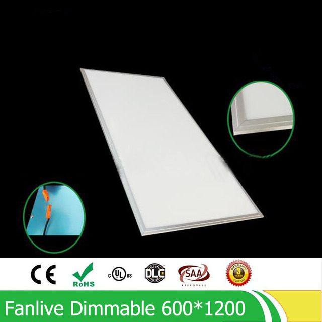 72W 600*1200MM Dimmable Led Panel Light ,led Panel Lamp SMD2835 Office/Home/Hotel Lighting With 600*1200 Surface Mounting Frame