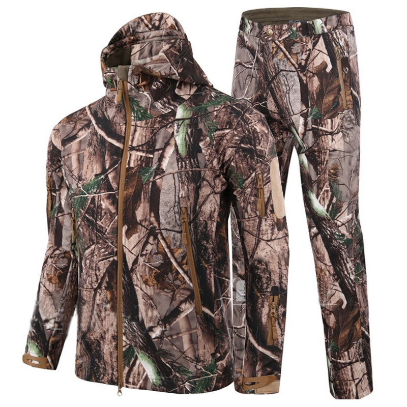 Men Tactical Gear suits SoftShell TAD V 4.0 Military Jackets+Pants Outdoor Hunting Waterproof Coat Hiking Camouflage windstopper tactical gear softshell camouflage outdoor jacket men army waterproof camo hunting clothes sport windbreaker military jackets