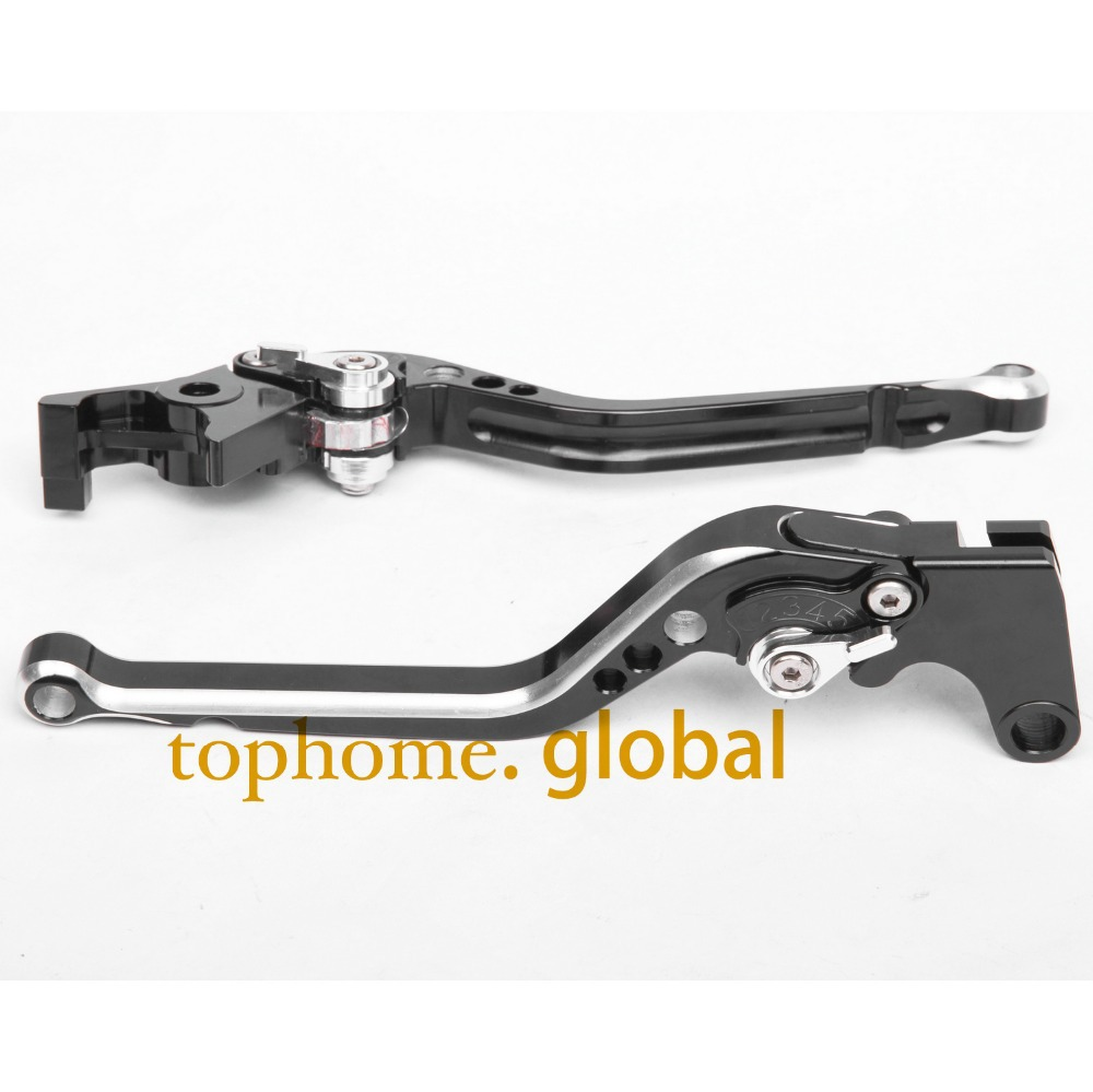 CNC Motorcycles Brake Clutch Levers Regular size Mixed Black&Silver Color For Yamaha FZ6 FAZER /S2 2004-2005 2006 2007 2008-2010