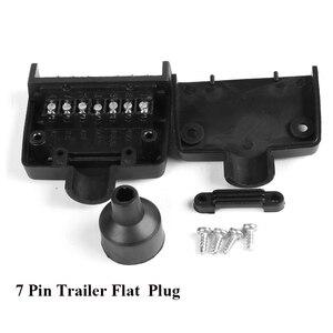 Image 4 - 12 V Auto Accessoires 7 Pin Platte Trailer plug 7 manier core pole truck vrouwelijke adapter Towing Elektra campe towing connector