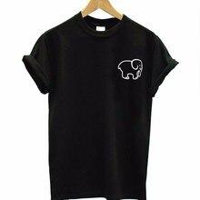 small elephant pocket Print Women tshirt Cotton Casual Funny t shirt For