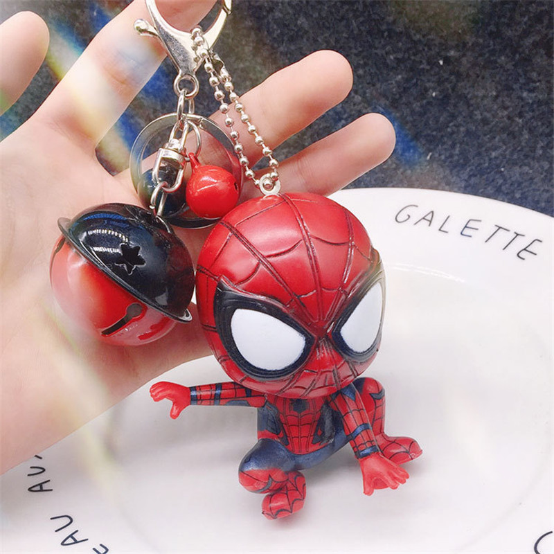 7.5 Fashionable Movie Spider Man Keychain Hero Homecoming Car Key Ring Pendant Spiderman Keychains Toys Women Men JewelryTrinket