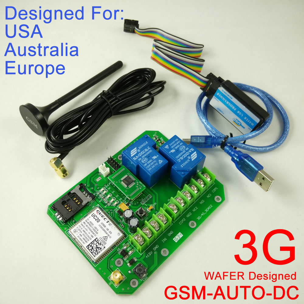 Free shipping 1pcs 3G Version GSM-AUTO Double big power relay GSM Remote Control System  ...