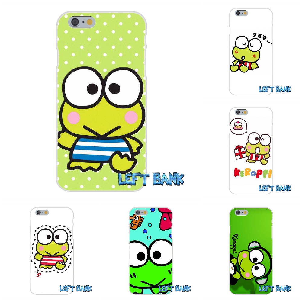 For iPhone 4 4S 5 5S 5C SE 6 6S 7 Plus music keroppi dj frog Soft Silicone TPU Transparent Cover Case