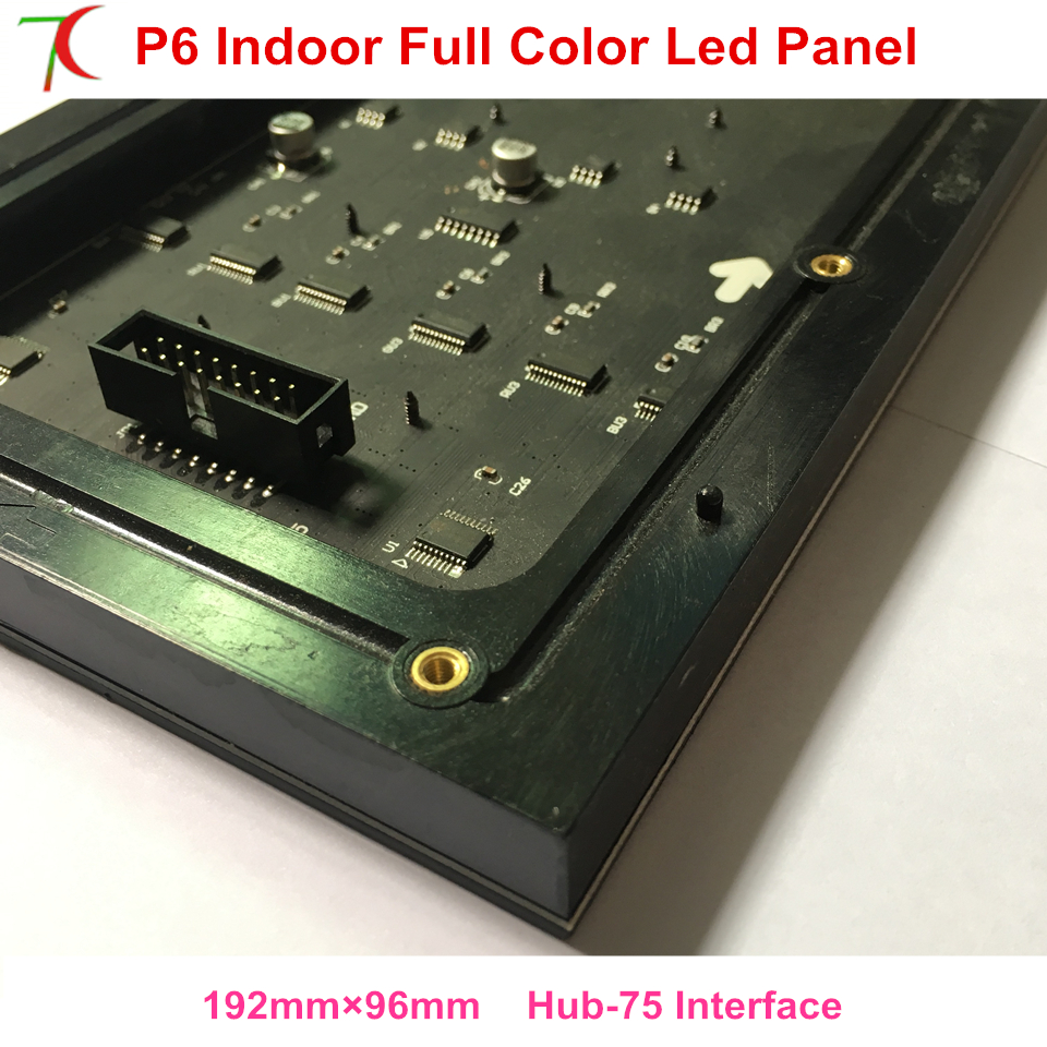 China Factory Sales Customizable 192mm*96mm P6 Indoor  Full Color Led Board Smaller Size Led Panel Led Display