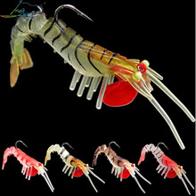 1PCS Soft Shrimp Bait Lead Hook Fishing Lures 7g 13g 19g Jig Head Lure Artificial Boat Seabass