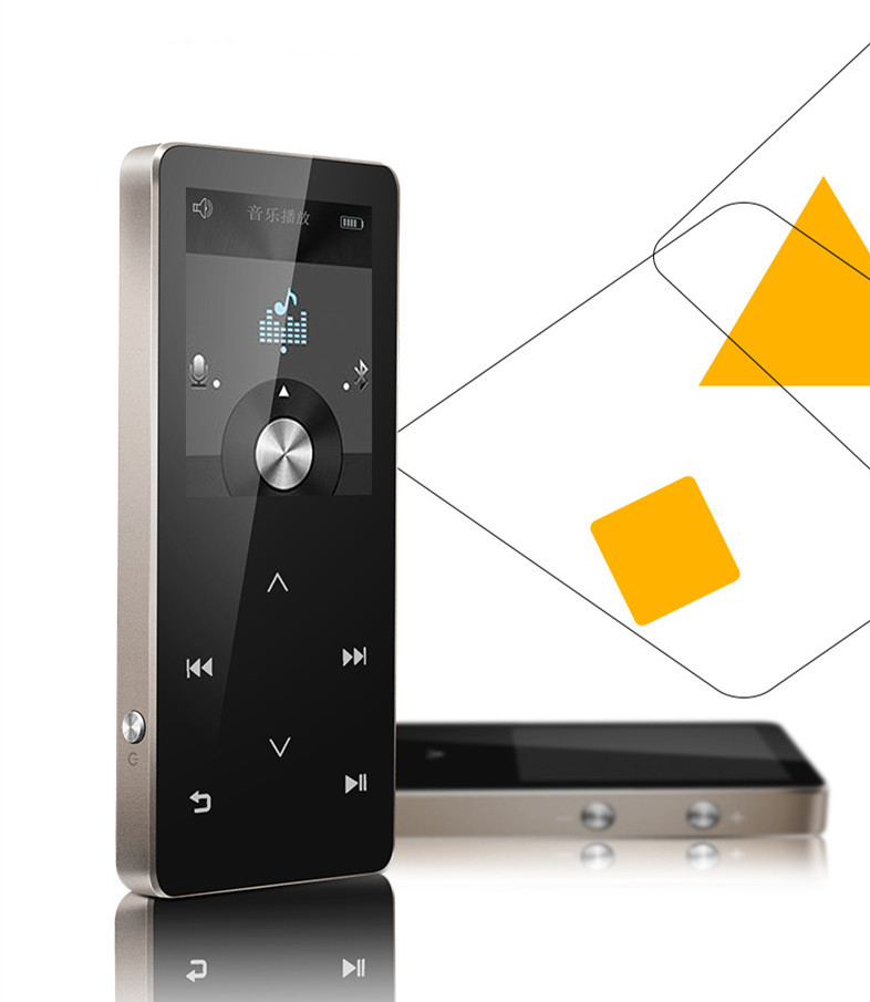 GERUIDA C20 HIFI MP3 Touch Music Player 8GB with Bluetooth TF Slot Metal Voice Recording