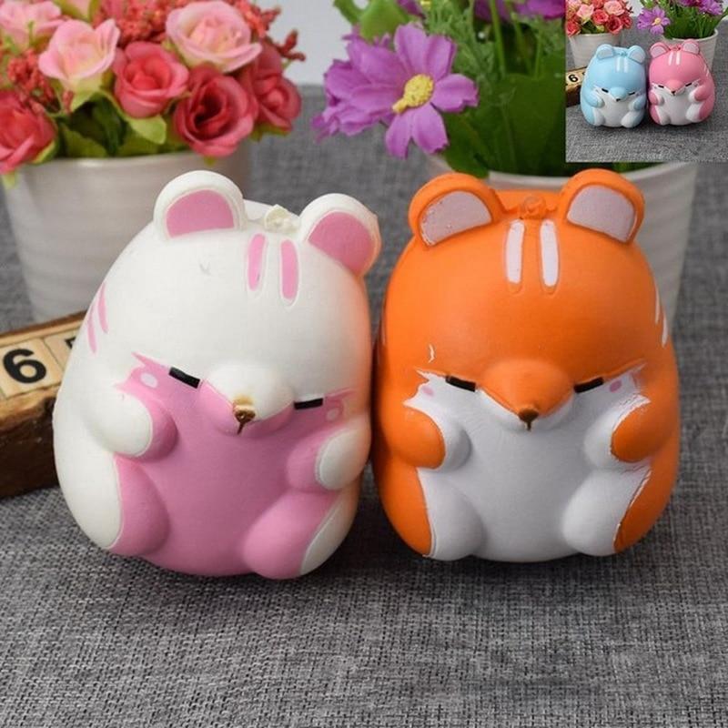 Fun Squishy Bloom Pom Pom Hamster Slow Rising Kids Toy Antistress Relieve Gift
