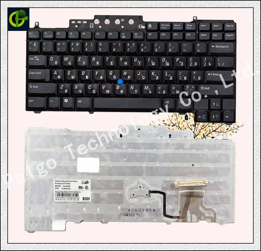 Original Russian Keyboard for  Dell Latitude D620 D630 D631 D820 M65 D830 PP18L  RU-in Replacement Keyboards from Computer & Office on