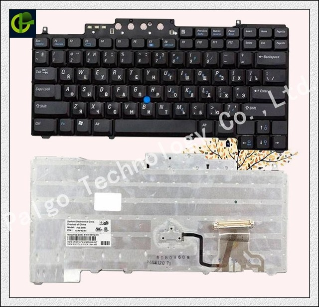 Original Russian Keyboard for  Dell Latitude D620 D630 D631 D820 M65 D830 PP18L  RU