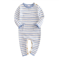 New Baby Rompers Striped Cotton Coveralls 2016 Wool Knitted Clothes Boys Girls Jumpsuits Hot Cute Baby