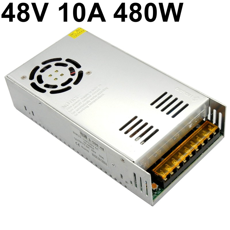 48V <font><b>10A</b></font> 500W switching power supply Driver ac to dc transformer AC 110V 220V input for Stepping motor engraving machine image