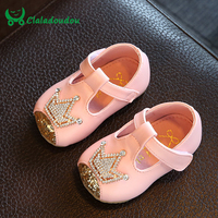 Claladoudu Baby Girl Shoes Crystal Moccasins Newborn Dress Shoes For Children Princess Girls Soft First Walkers