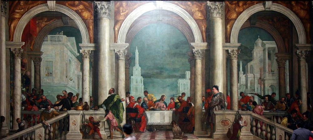 Wholesale painting Paolo Veronese Jesus Religious art Banquet in the House of Levi print painting on