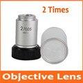 2X 195 лабораторный образовательный Биологический микроскоп ахроматическая объективная линза 2 раза оптическая линза со стандартной резьба ...