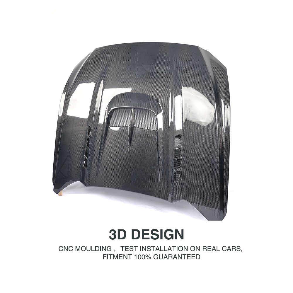 Карбоновый автомобильный передний чехол капота авто капот двигателя для Форд Мустанг купе 2 двери 2015-2017 FRP Неокрашенный