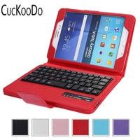 CucKooDo Removable Wireless Bluetooth Keyboard ABS Plastic Laptop Stylish Keys Case For Samsung Galaxy Tab A 8.0 Tablet SM T350