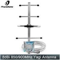 Направленная антенна Яги Усиления 850/900 МГц 8dBi открытый для сотовая связь усилитель сигнала с N разъем