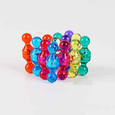 Hot Busana Tembus Kecil Dorong Pins Lucu Magnet Kulkas Magnet Kelas Tinggi Aneka Warna