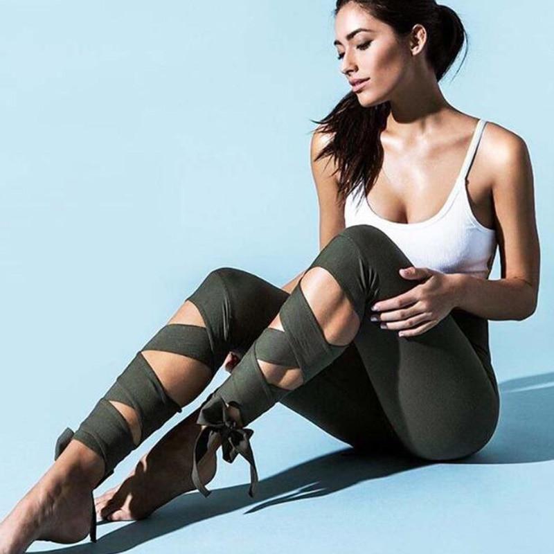 Women Ballerina Yoga Pants Sport Leggings Fitness Cross
