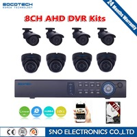 SOCOTECH 1080N 720P HD Outdoor Security Camera System 1080P HDMI CCTV Video Surveillance 8CH DVR Kit 1TB HDD AHD Camera Set
