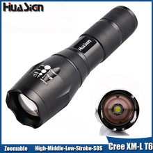 Ultra Bright 5 Modes CREE XML T6 Led Flashlight Zoomable Torch Lights lanterna for Camping Hunting