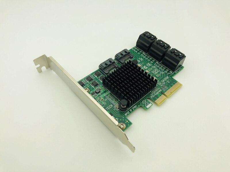 Express para Sata Suporte de Perfil Porta Pci-e Iii 3 6 gb Cartão Controlador Ssd Sata Sata3.0 Adaptador Raiser Baixo 8 Pci 3.0