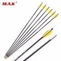 30 дюймовые разноцветные стрелы из углеродного волокна  стрелы для позвоночника  диаметр 1000  5 мм  наконечники внешнего типа  тренировочные с...