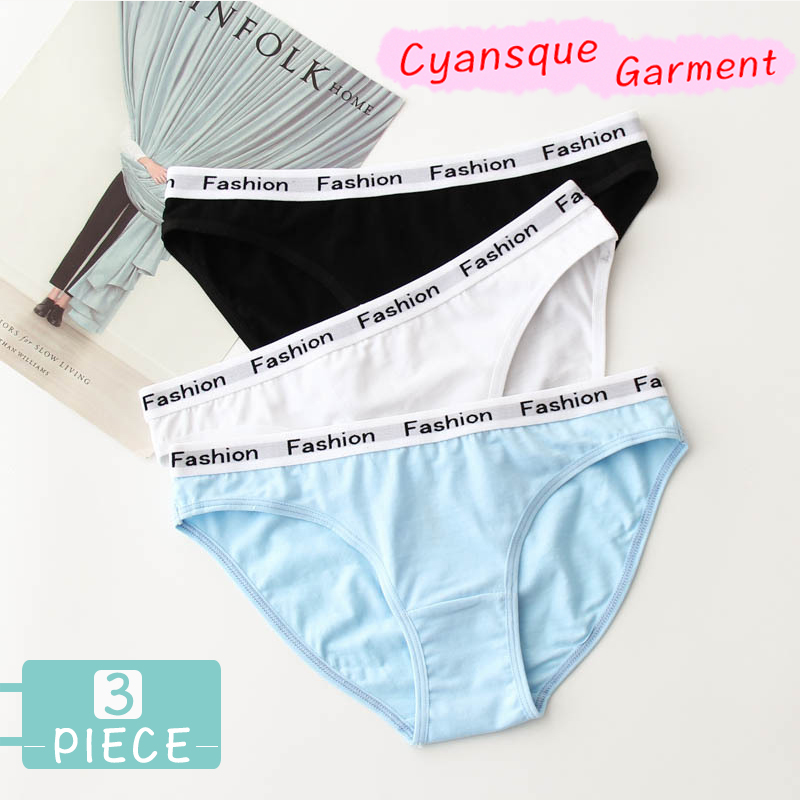 3pcs Female Panties  Women's Underwear Low Waist Sexy Underwear Woman Cotton Bikinis Sport Brief Lingeri Erotic Tanga Thong