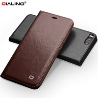 QIALINO For Xiaomi Mi 6 Leather Phone Cases Classic Luxury Genuine Cowhide Bag Leather Flip Cover