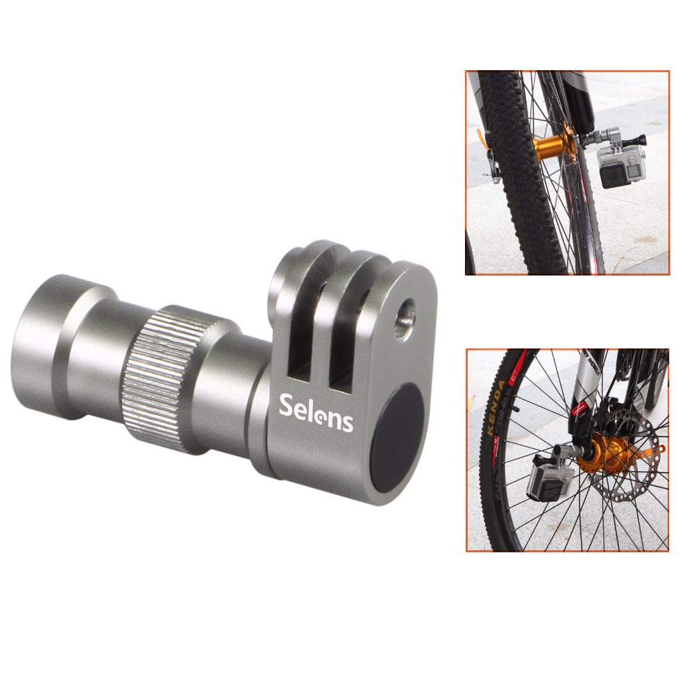 Bicycle Wheel Hub Bracket Holder Connector Three Prong Mount For GoPro Hero 3 4 5 8 Xiaomi Yi Sjcam Action Video Camera