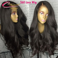 8A Natural Color 360 Lace Frontal Wigs Malaysian Virgin Human Hair Full Lace Front Wig For Black Women Thick Wave 360 Lace Wig