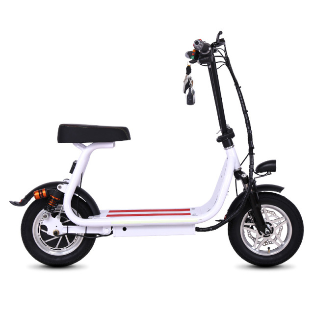 Electric Scooter With Seat >> 2018 New 12inch Two Wheels Electric Foldable Scooter With Seat Mini